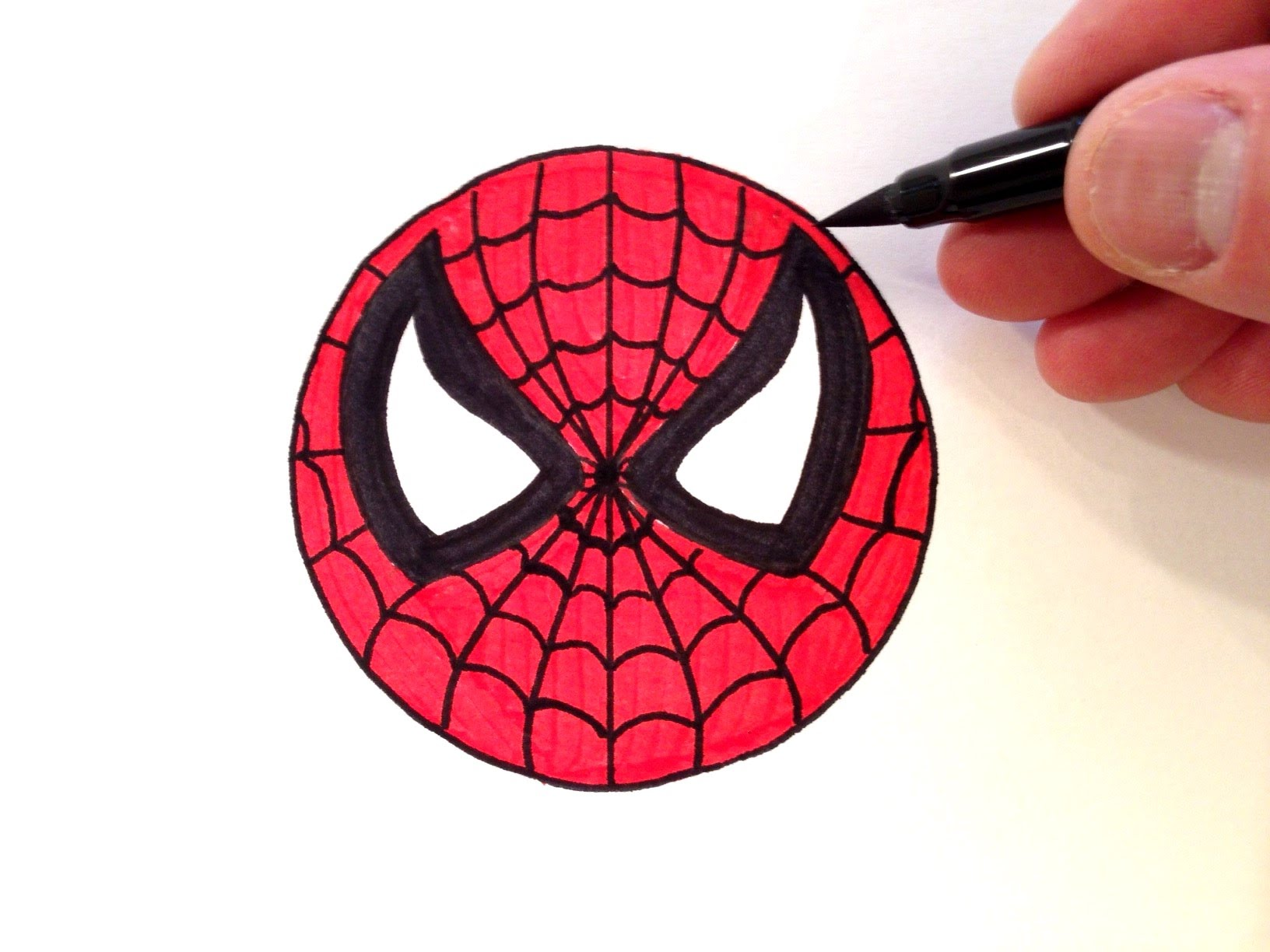 Spiderman clipart circle. How to draw a