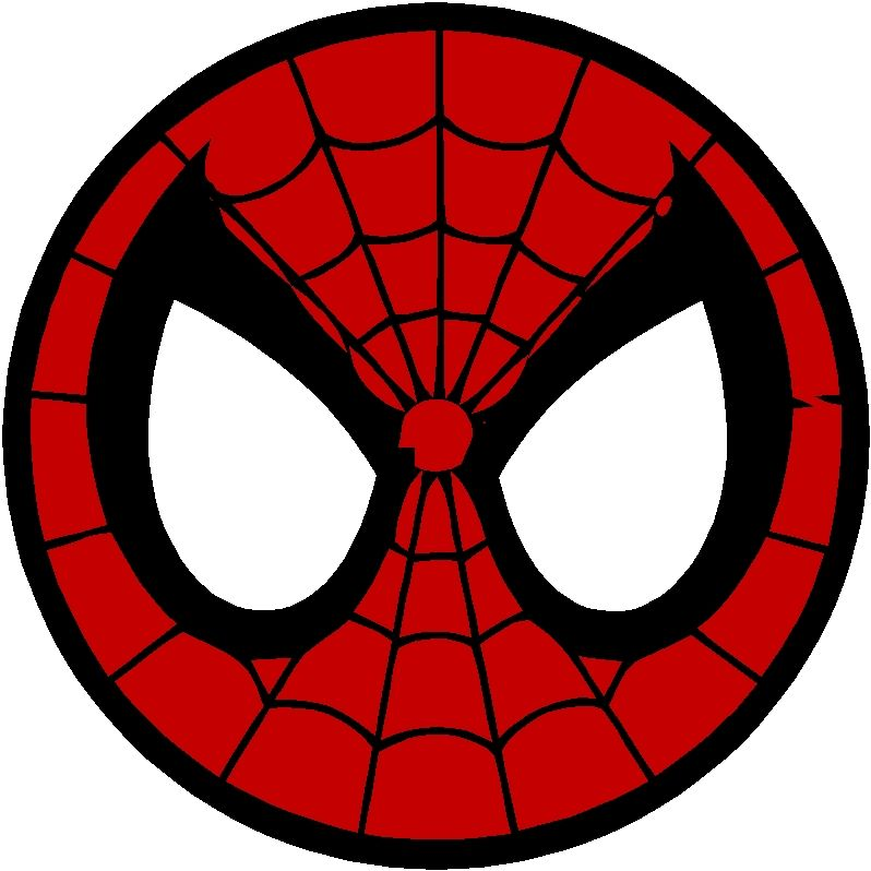 Spiderman clipart circle. Spider man logo and