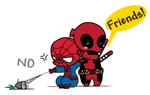 Spiderman clipart deadpool. Gif annoyed discover share