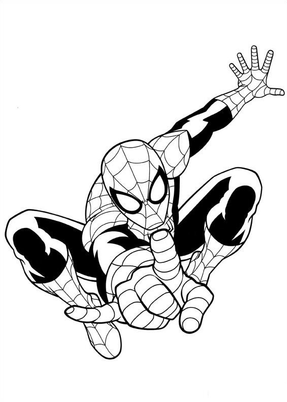 Spiderman clipart ultimate spiderman. Kids n fun com