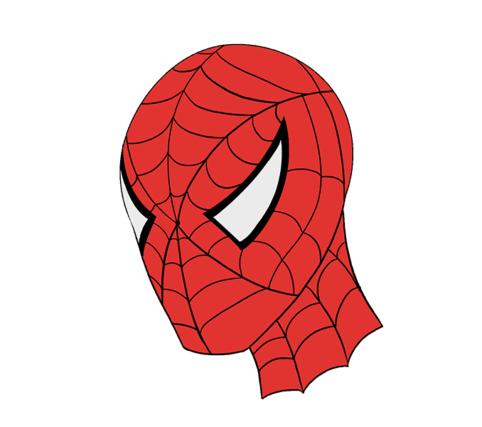 Spiderman face png. How to draw s