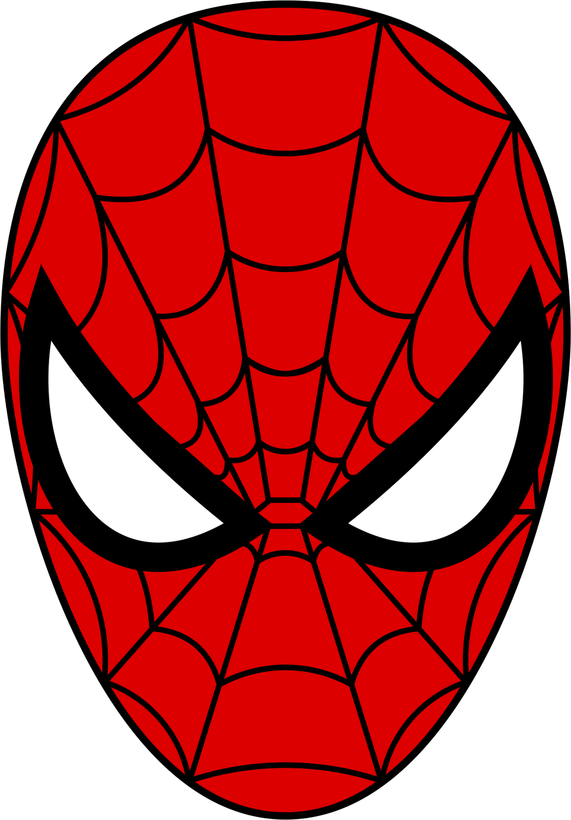 From cardboard templates nextinvitation. Mask clipart spider man picture download