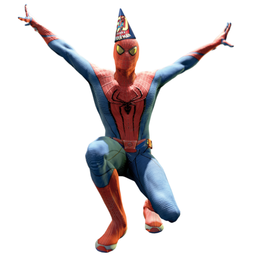 Spiderman upside down png. Party hat amazing spider