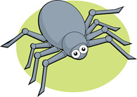 Spiders clipart cartoon. Free spider clip art