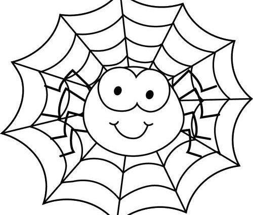 Spiders clipart coloring page. Pictures of to colour