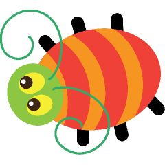 Spiders clipart orange bug. The best insects dragonfly