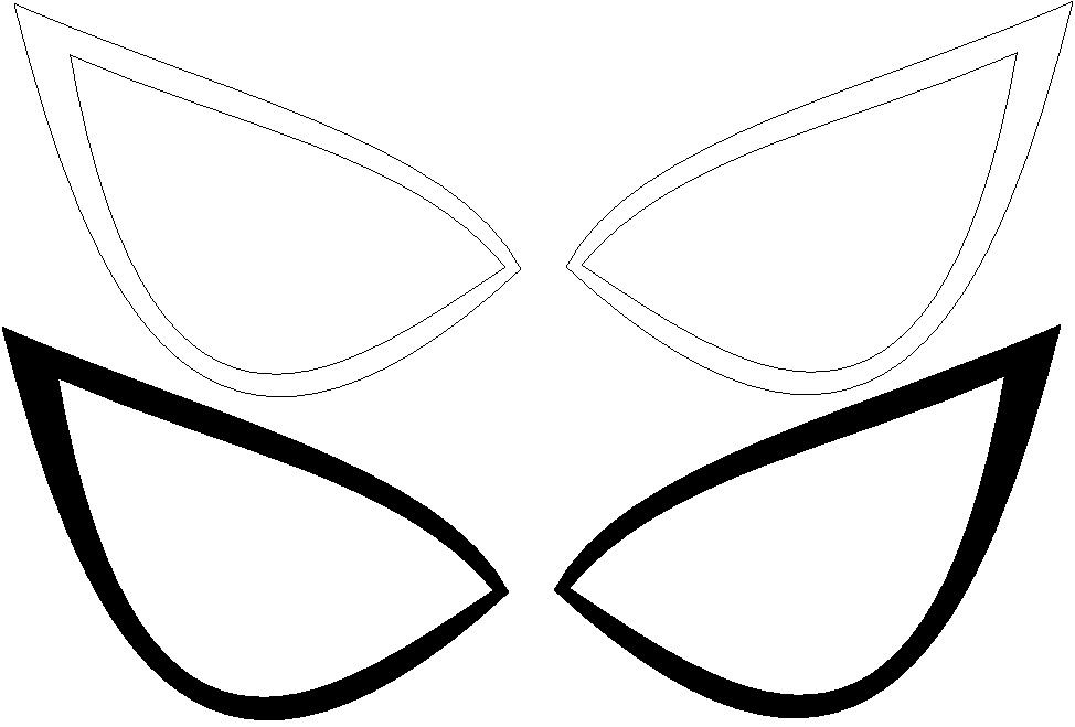 Spiders clipart white eye. Spiderman eyes template ultimate