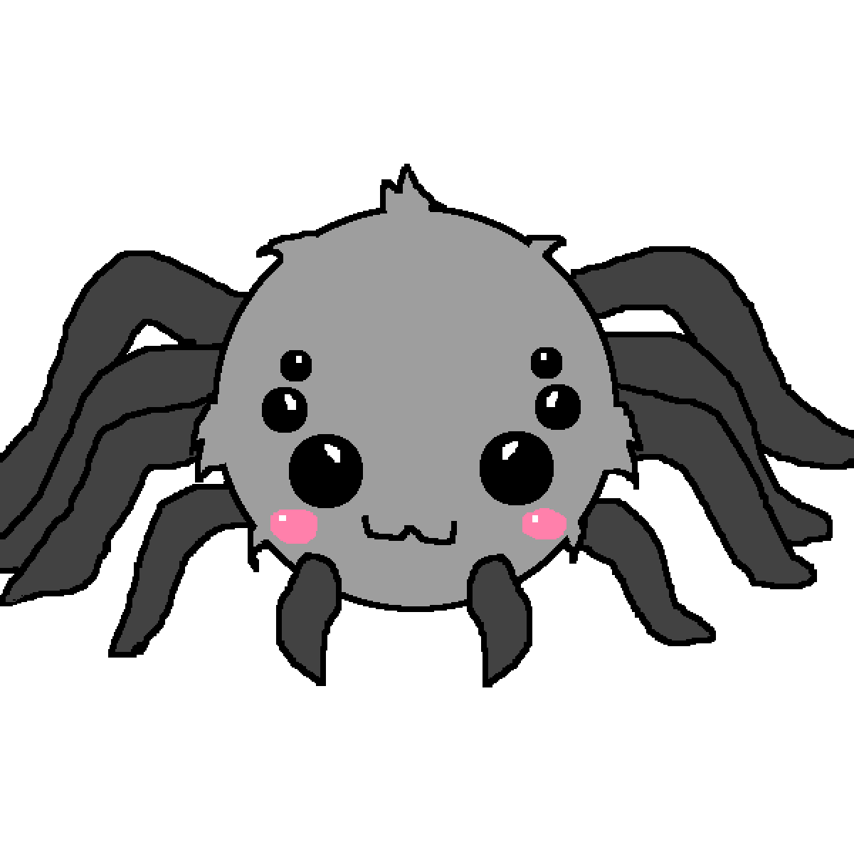 Spiders clipart white eye. Pixilart chibi spider by