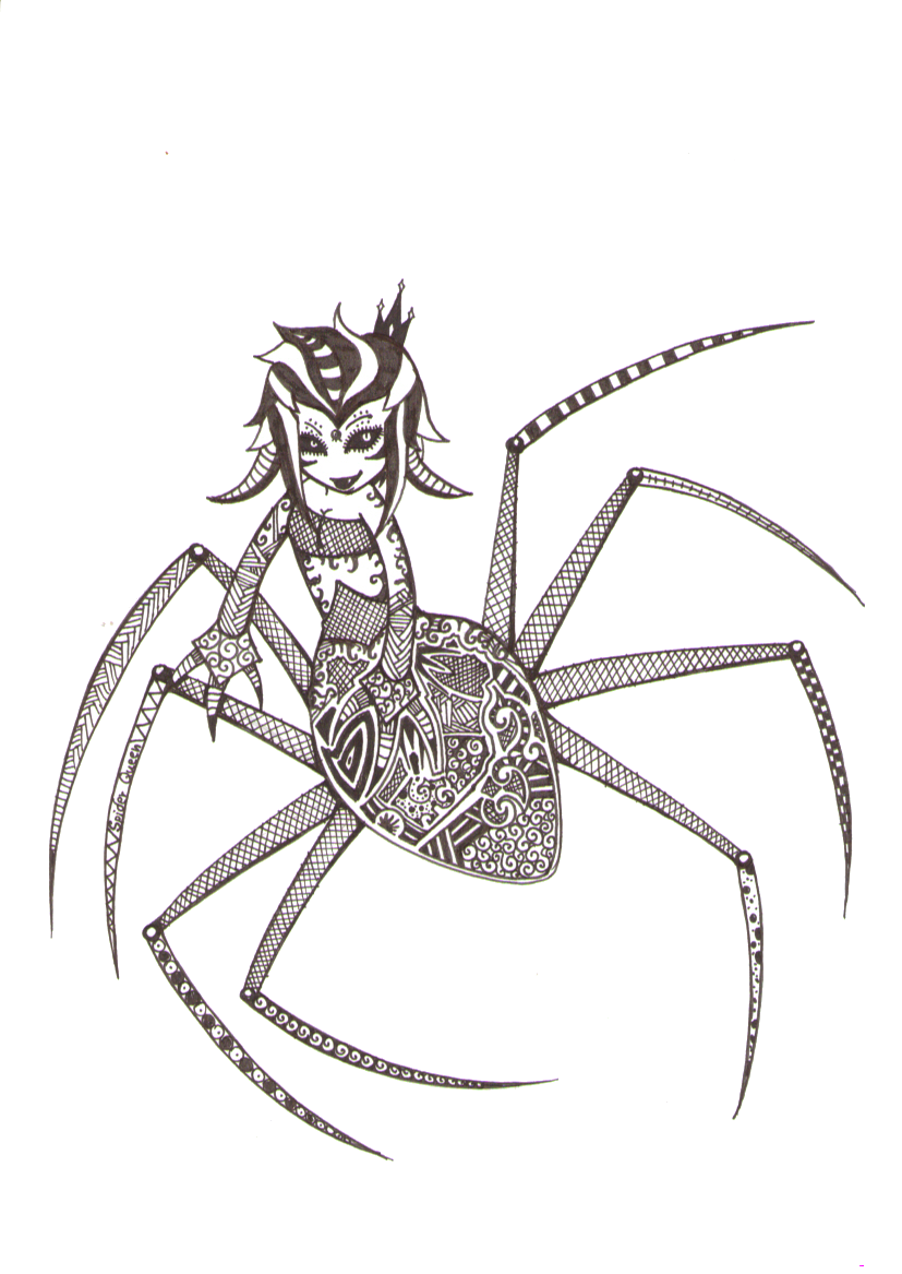 Spiders drawing gothic. Spider queen by deathlydolls
