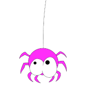Spiders drawing kawaii. Pink spider cute funny