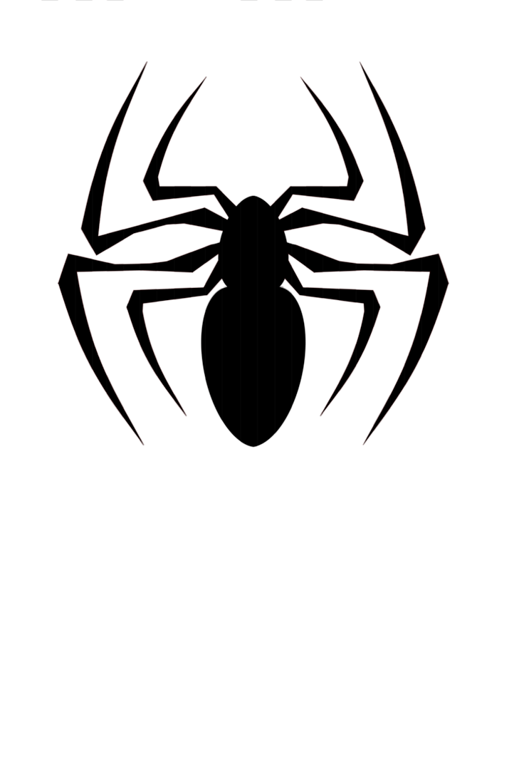Spiders drawing logo. Collection of black