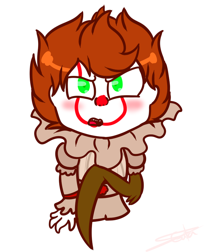 Spiders drawing pennywise. Chibi by lasgatasdemedianoche on