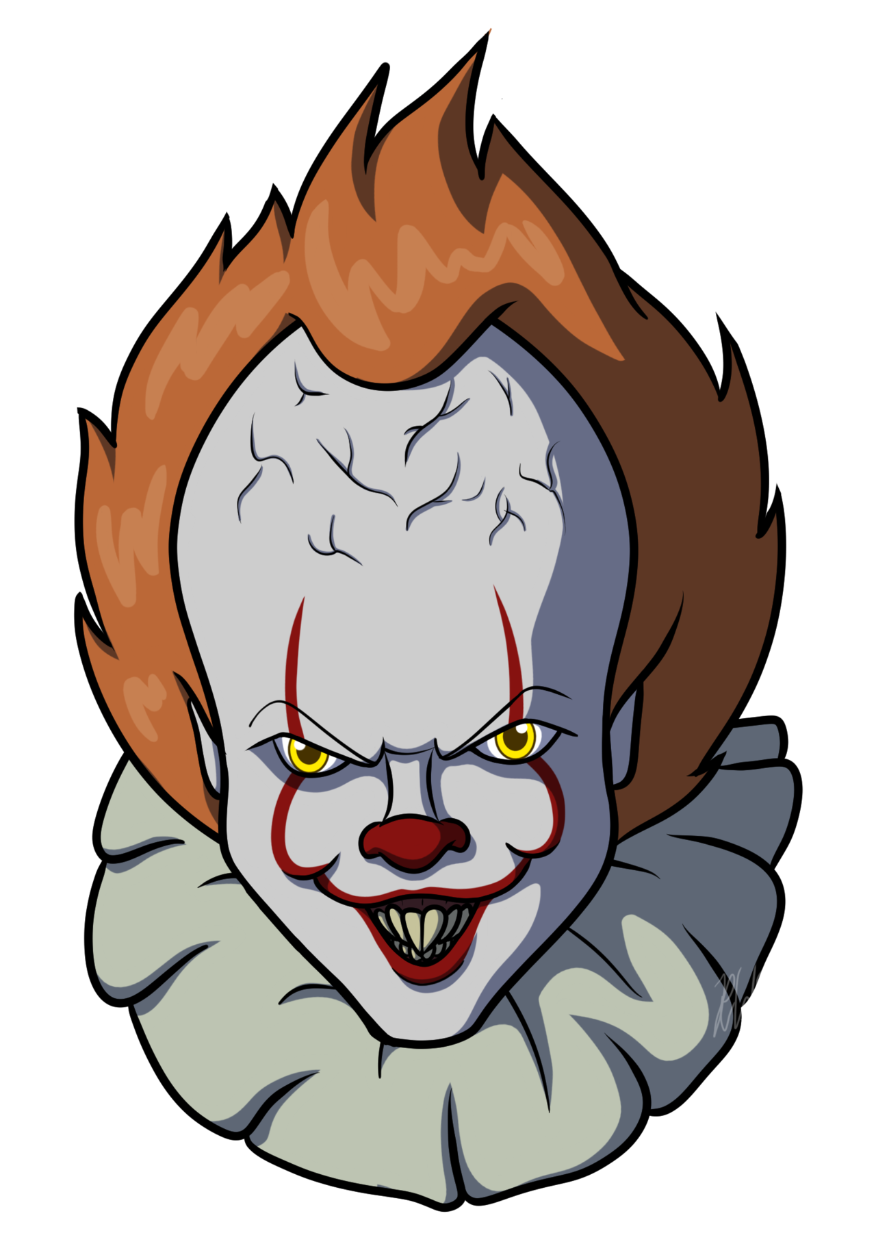 Spiders drawing pennywise. By araghenxd on deviantart
