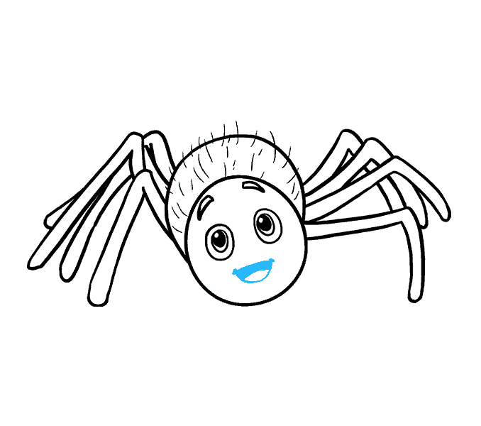 Spiders drawing seven. Spider email at getdrawings