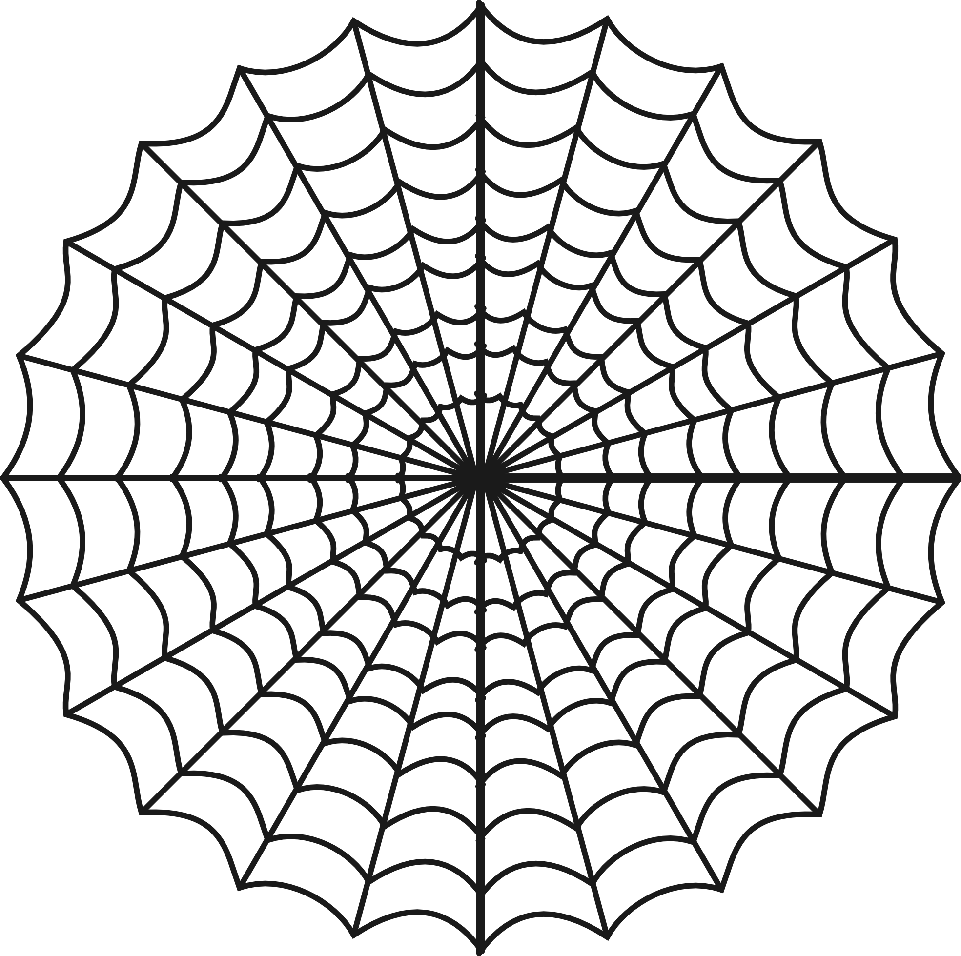Spiderweb clipart black and white. Spider panda free images