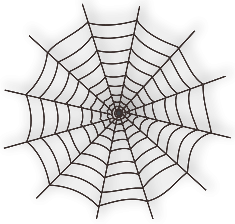 Spiderweb clipart bow. Large haunted spider web