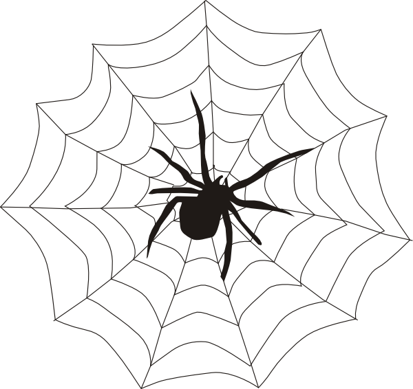 Spiders drawing outline. Free cartoon pictures of