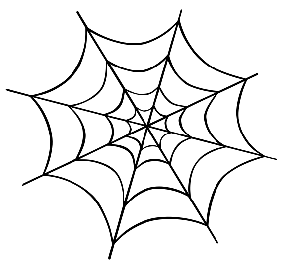 Spiderweb clipart friendly spider. Web cartoon drawing at