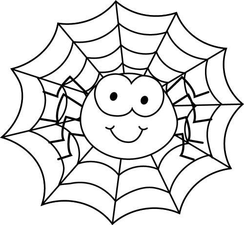 Spiderweb clipart friendly spider. Images of template