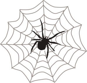 Spiderweb clipart wed. Corner spider web free