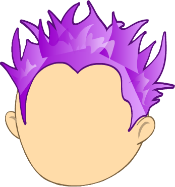 Spiked hair png. Perm purple spiky gallery