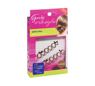 Spin clip hair. Simple styles pin units