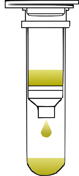 Spin clip clipart. Column closed with solution