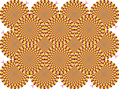 Spin drawing illusion. Peripheral drift an example