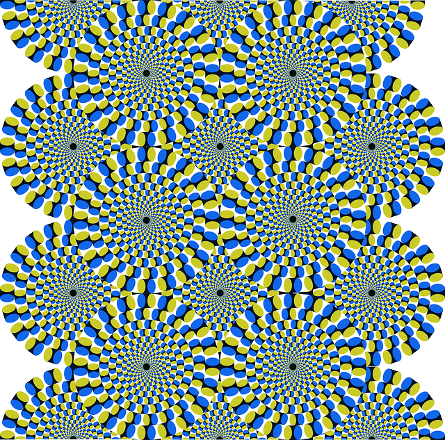 Spin drawing illusion. My pic bubble no