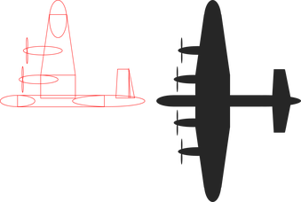 Spin drawing plane propeller. Spinning powerpointy fpng
