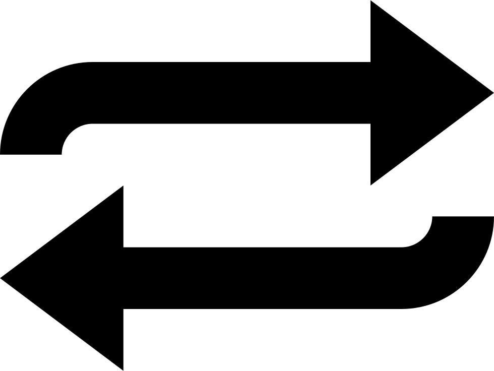 Spin vector arrow. Two arrows svg png