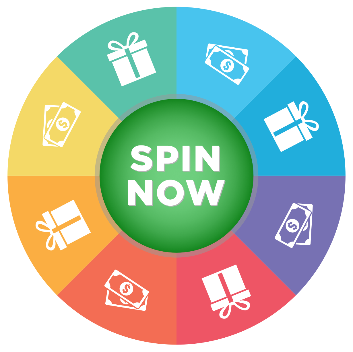 Spin vector circle design. And win with twinspires