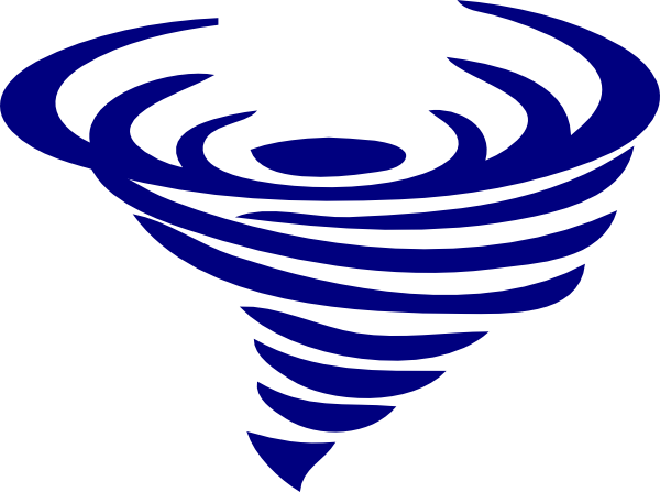 Spin vector clipart. Blue spinning whirlwind clip