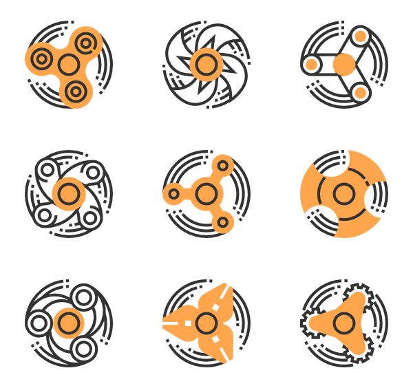 Spin vector psd. Icon packs svg