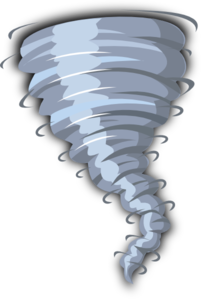 Spin vector whirlwind. Blue spinning clip art