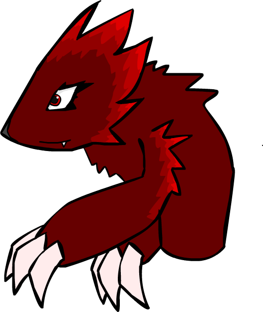 Spine clipart drawn. Creature by marvelous miscreant