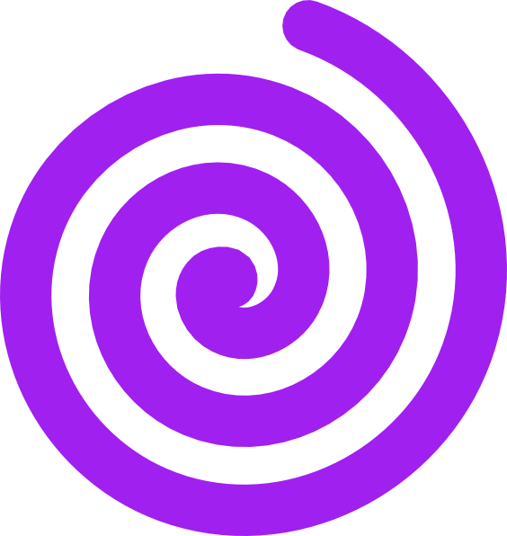 Spiral clipart. Purple clip art at
