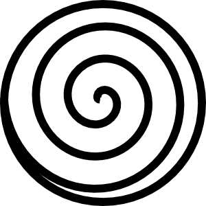 transparent spiral line art