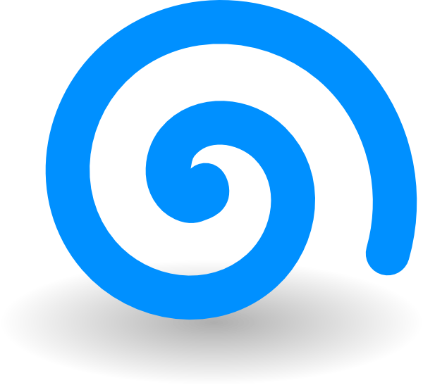 Spiral clipart. Turquoise clip art at