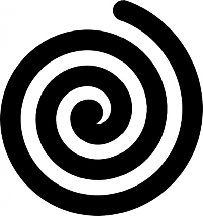 Spiral clipart. Graphic  svg black and white download