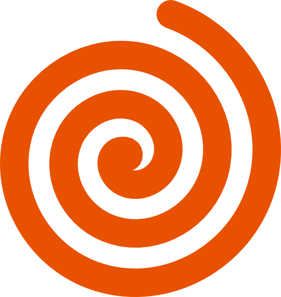 Spiral clipart. Orange  clipart black and white library