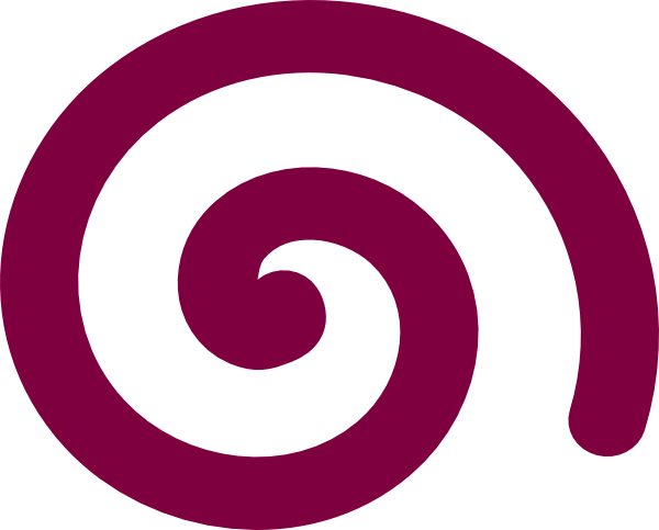 Spiral clipart purple. Simple clip art at