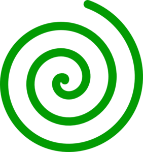 Spiral clipart spiral circle. Green clip art at