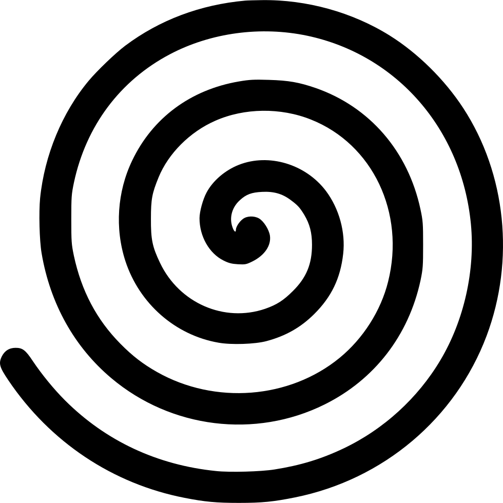 White spiral png. Svg icon free download