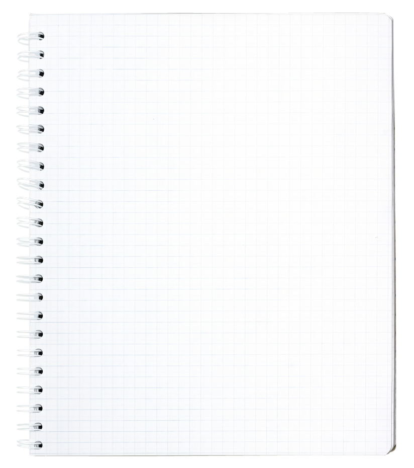 Png note. Pad with spiral binding