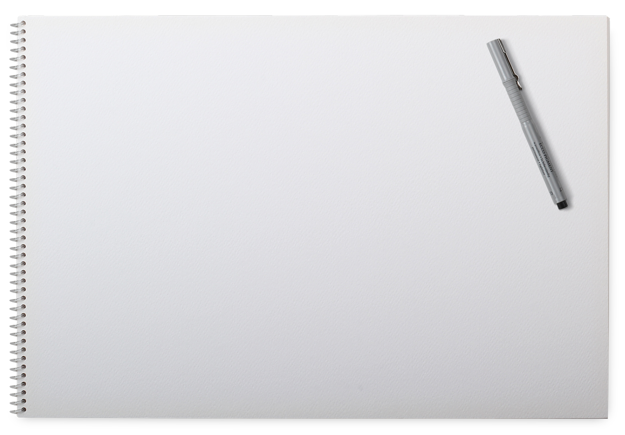 Spiral notebook page png. Binding with pen image