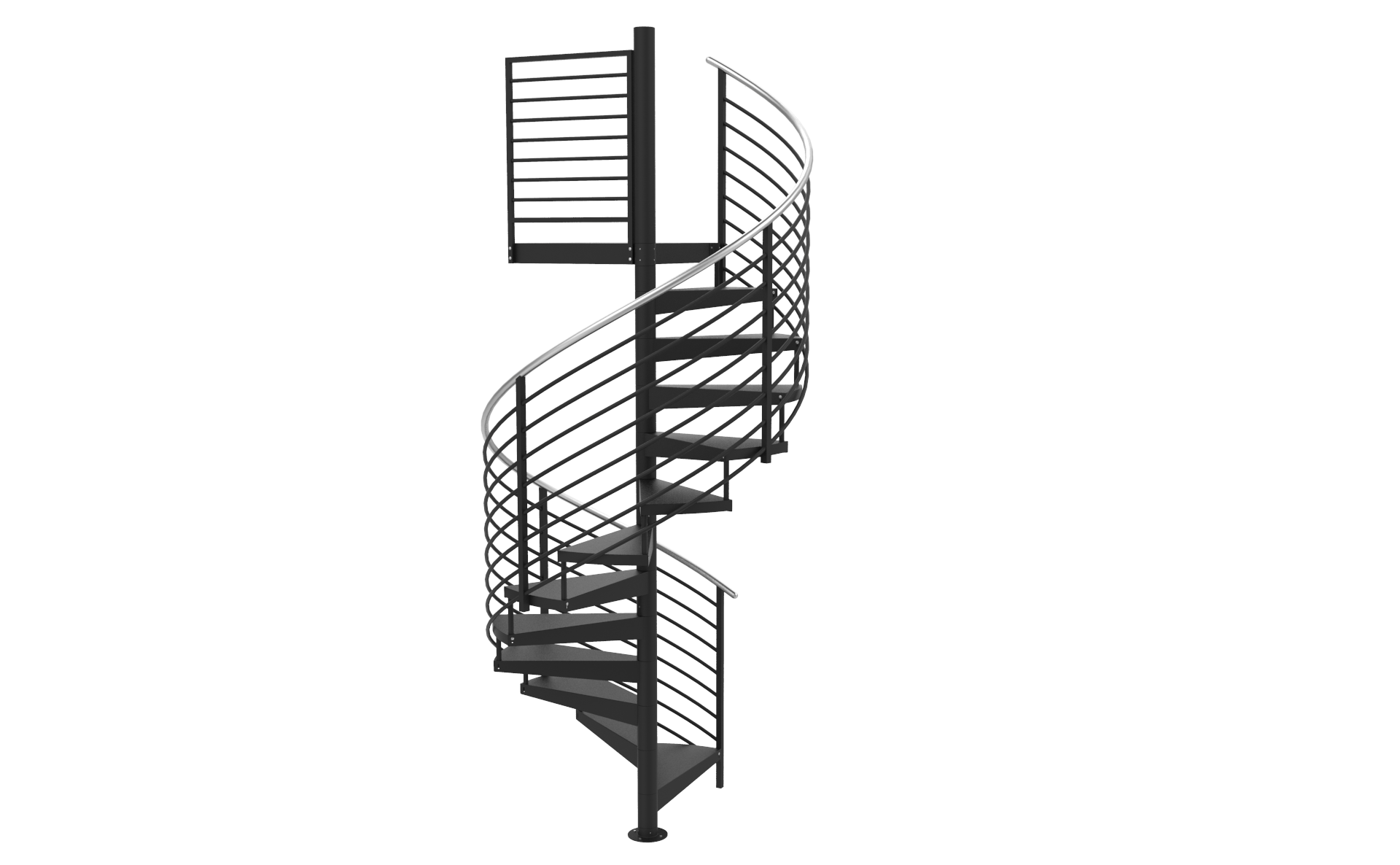 Spiral staircase png. D horizontal welded