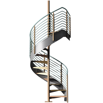 Spiral stairs png. Architectural prefabricated designer ready
