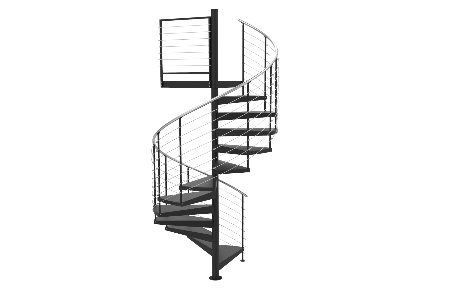 Spiral stairs png. D horizontal stainless
