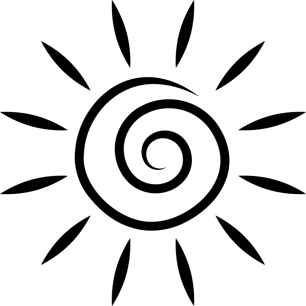 Spiral sun png. Svg icon free download